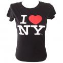 "T-Shirt femme col rond ""I Love New York"" noir"