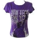 """T-Shirt femme """"Statue de la Liberté"""" violet"""