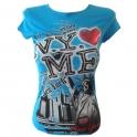 """T-Shirt femme """"Statue de la Liberté"""" turquoise"""