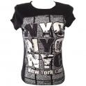 """T-Shirt femme """"NYC"""" noir"""