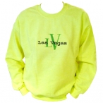 Sweat Shirt Las Vegas jaune fluo