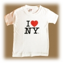"T-Shirt Enfant ""I Love New York"" blanc"