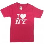 "T-Shirt Enfant ""I Love New York"" rose"