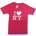 "T-Shirt Enfant ""I Love New York"" rose"