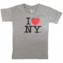 "T-Shirt Enfant ""I Love New York"" gris"