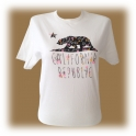 T-Shirt femme Californie blanc