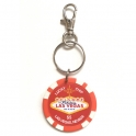 """Porte Clé Las Vegas """"Lucky Chip"""" $5 rouge"""
