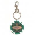 "Porte Clé Las Vegas ""Lucky Chip"" $25 vert"