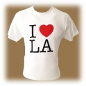 "T-Shirt Los Angeles ""I love L.A"" blanc"