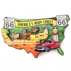 "Magnet Route 66 ""America's Main Street"" 11 cms en relief"