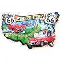 "Magnet Route 66 ""America's Main Street"" en bois"
