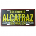 "Plaque Métallique San Francisco ""Alcatraz"" Noire"