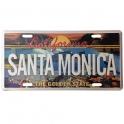 Plaque Métallique Santa Monica