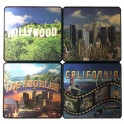 "Sous-Verres Los Angeles ""I Love LA"" - Lot de 4"