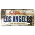 "Magnet Los Angeles ""Plaque Immatriculation"" vieillie"