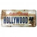 "Magnet Hollywood ""Plaque Immatriculation"" vieilli"