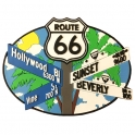 Magnet Route 66 / Hollywood