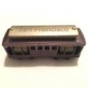 """Magnet San Francisco """"Cable Car"""" métal couleur cuivre"""