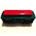 """Magnet San Francisco """"Cable Car"""" métal bleu et rouge"""