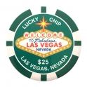 Jeton de casino aimanté Las Vegas $25 vert