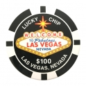 Magnet Jeton Géant Las Vegas $25 vert