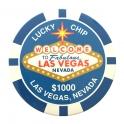 Magnet Jeton Géant Las Vegas $500 rose