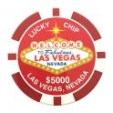 Magnet Jeton Géant Las Vegas $1.000 bleu