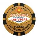Magnet Jeton Géant Las Vegas $10.000 noir
