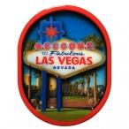 Magnet Las Vegas en bois verni et en relief