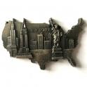 """Magnet New York """"USA"""" métal couleur argent"""