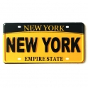 "Magnet New York ""Plaque Immatriculation"" jaune"