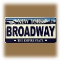 "Magnet New York ""Plaque Immatriculation"" Broadway blanc"
