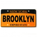"Magnet New York ""Plaque Immatriculation"" Brooklyn jaune"