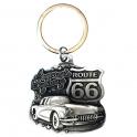 """Porte Clé Route 66 """"America's Highway"""" métal"""