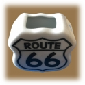 "Porte Cure Dents Route 66 ""Logo"""