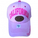 Casquette Californie rose
