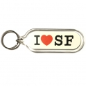"Porte Clé San Francisco ""I Love SF"" plastique"