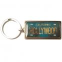 """Porte Clé """"Plaque Immatriculation"""" Hollywood"""