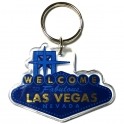 "Porte Clé ""Welcome to Fabulous Las Vegas"" bleu"