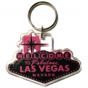 "Porte Clé ""Welcome to Fabulous Las Vegas"" noir et rose"