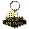 "Porte Clé ""Welcome to Fabulous Las Vegas"" noir et or"