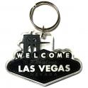 """Porte Clé """"Welcome to Fabulous Las Vegas"""" noir et blanc"""