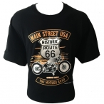 "T-Shirt Route 66 ""Main Street"" noir"