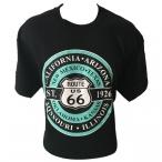"""T-Shirt Route 66 """"8 States"""" noir"""