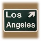 """Plaque """"Los Angeles Exit"""" verte"""