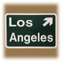 "Plaque ""Los Angeles Exit"" verte"