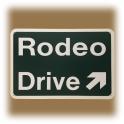 "Plaque ""Rodeo Drive Exit"" verte"
