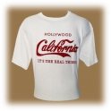 "T-Shirt Californie ""Coca-Cola"" blanc"