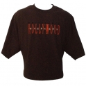 T-Shirt Hollywood marron