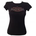 "T-Shirt femme Las Vegas noir ""Harley Davidson"""